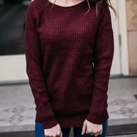 New Round Neck Long Sleeve Oversize Casual Pullover Sweater