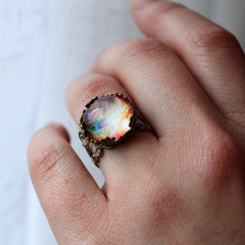 Orion Lacy Ring - Wanderlust Collection - Adjustable Ring,Valentines Day, Galaxy, Universe, Outer Space