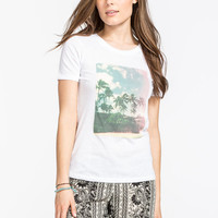 Billabong Aloha Yoyo Womens Tee White  In Sizes