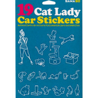 Cat Lady Car Decals