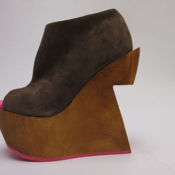 DV8 by Dolce Vita Brando Womens Open Toe Suede Wedges Heels Shoes 6 M