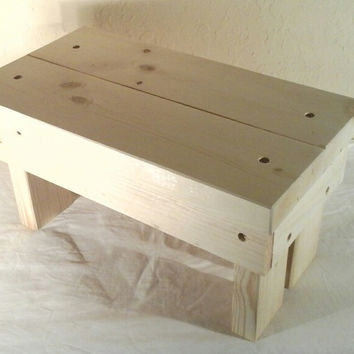 Medium, Handmade wooden step stool, (unfinished)