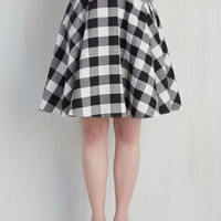 Raising the Bar-Becue Skirt in Black | Mod Retro Vintage Skirts | ModCloth.com