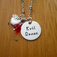 "Disney's ""Snow White"" Inspired Necklace. ""Evil Queen"" Villain. Wicked Queen. Silver colored. Swarovski crystal."