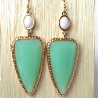 Get To The Point Earrings In Mint