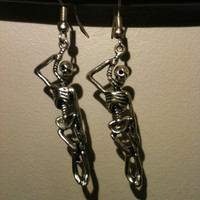 Hanging Skeleton Earrings Halloween Accessories Free Shipping