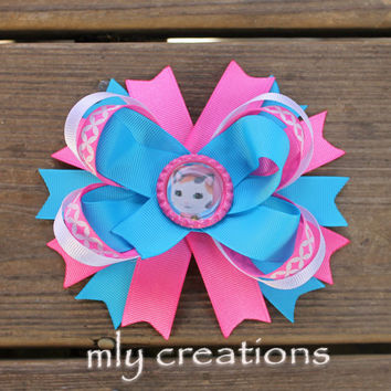 Sheriff Callie's Wild West Hairbow,Sheriff Callie Headband-Disney hairbow,Girls Birthday hair bow Party, Sherifff Callie Birthday Hairbow