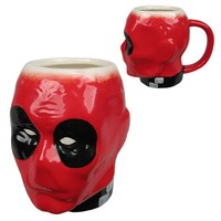 Deadpool Crazy Marvel Molded 16 oz. Mug - Classic Imports - Deadpool - Mugs at Entertainment Earth