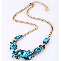 Crystal Aqua Necklace