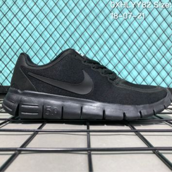 HCXX N083 Nike Air Zoom Free RN 5.0 Breathable Causal Running Shoes Black