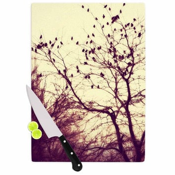 "Sylvia Coomes ""Darkness Into Light "" Green Nature Cutting Board"