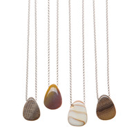 Petrified Wood Pendants