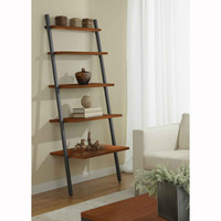 Five Tier Ladder Bookcase in Cherry (Cherry) (71H x 30W x 29D)