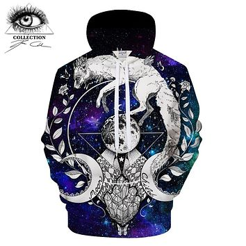 Moon child blanket By Pixie coldArt 3D Print Hoodies Women Casual Sweatshirt Tracksuit Pullover Jacket Hooded Streatwear DropShi