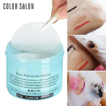 ESBON Color Salon Face Makeup Remover 100pcs Wet Wipe Eye Cleaner Make Up Oil Cleansing Eyeshadow Towel Tool Lip Clean Cotton Pads
