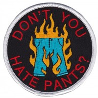 THRILLHAUS HATE PANTS PATCH