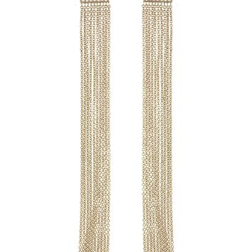 Fringe Duster Earrings - Rose Gold