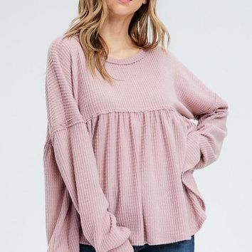 Baby Doll Thermal - Heather Plum by White Birch