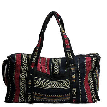 Indian Hand Made Multi Coloured Duffle Bag Gym Bag Luggage Suitcase Travel Bag
