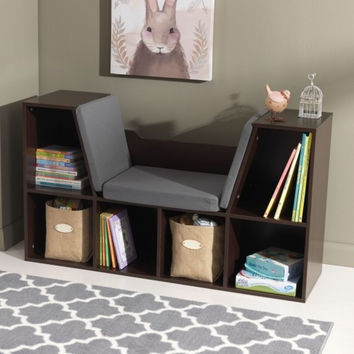 Bookcase with Reading Nook in Espresso