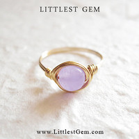 Lavender Jade ring - unique rings - custom