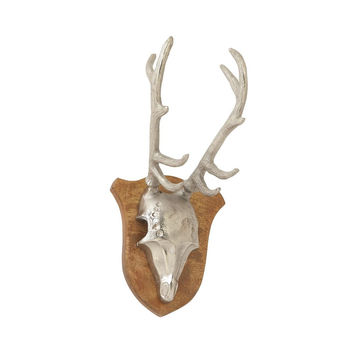 Benzara Sophisticated Aluminum Wood Antler Wall decor