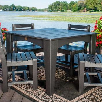 LuxCraft Recycled Plastic Island Dining Table (44″ Square)