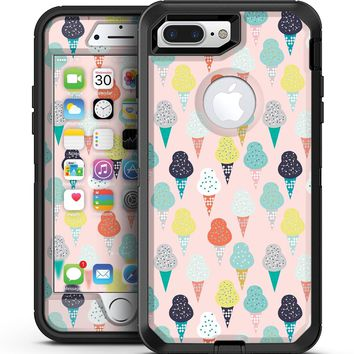 The All Over Pink Ice Cream Cone Pattern - iPhone 7 Plus/8 Plus OtterBox Case & Skin Kits