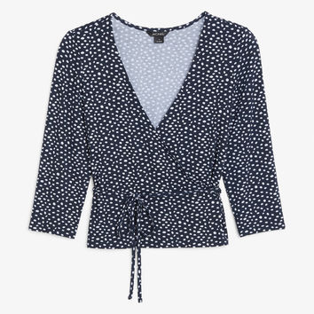 Soft wrap top - Polka dots - Tops - Monki DK