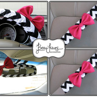 Full Set Custom Steering Wheel Cover Mirror Cover by BeauFleurs