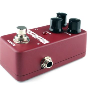 Mini Distortion Pedal Portable Guitar Effect Pedal Red