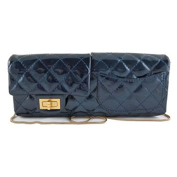 Chanel Reissue Blue Patent Clutch Serpentine Chain - Rare