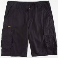 Subculture Mens Ripstop Cargo Shorts Black  In Sizes
