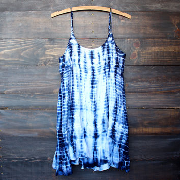 tie dye for mini dress | bohemian blue