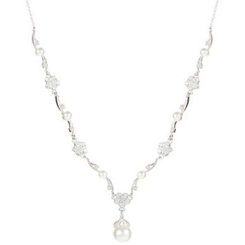 Nadri Pearl Flower Necklace