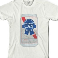 White T-Shirt | Funny Pabst Blue Ribbon Parody Shirts