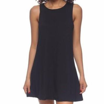 Slept til Noon Dress | Black