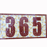 Custom Address Sign, Mosaic House Number Plaque