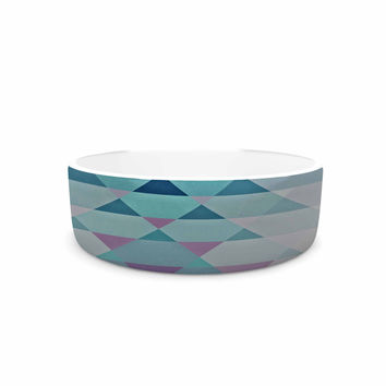 "Nika Martinez ""Hipster Girl"" Blue Lavender Pet Bowl"