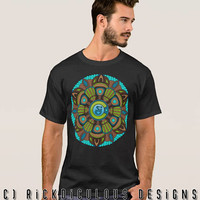 String Cheese Incident Retro Mandala Mens Unisex Shirt SCI Flower of Life Sacred Geometry Festival CO Love LOCKN Electric Forest Lot Tee