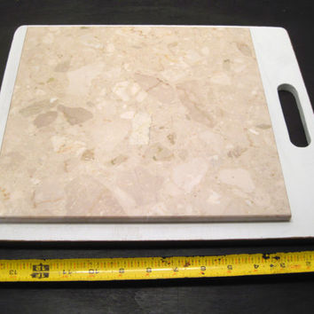 Marble, Tile, Trivet, Cutting, Pastry, Cheese, Board, Large, Centerpiece, Wood, Serving, House, Gift, Kitchen, Pot, Stand, Accessory, Plate