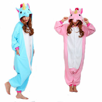 RASMEUP Adult Unicorn Pajamas Pajama Cosplay Unicorn Onesuit Unicorn Costume Animal Pyjamas Unicorn Onesuit Sleepsuit