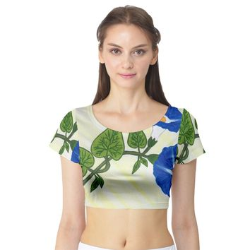 Morning Glory Short Sleeve Crop Top