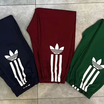 ADIDAS Trending Hot Pants Side Bottom Three Line Logo Women Men Trouser B-AA-XDD Three Color