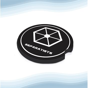 SW-Separatists Car Cup Holder Coasters Rubber Black-Backed (Set of 2)