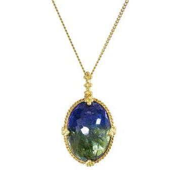 Oval Ocean Tanzanite Pendant Necklace