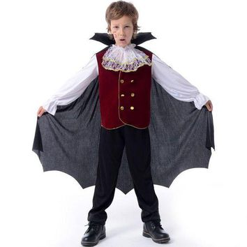 ESBON Children Halloween Cosplay Costumes Kids Prince Clothes Suits Vampire Boy Girl Clothing Birthday Fancy Party Kids Cosplay Dress