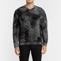 McQ Alexander McQueen - Textured Cotton-Blend Sweatshirt | MR PORTER
