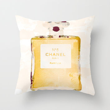 Chanel Nº5 Throw Pillow by Rui Faria