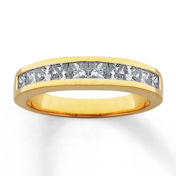 Diamond Anniversary Band 1/2 ct tw Princess-cut 14K Yellow Gold